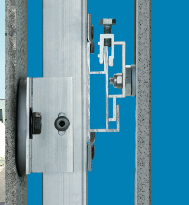 Aluminium profiles with Fischer Act fixings