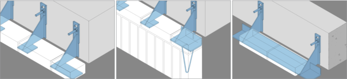 Hooks system for brick facades