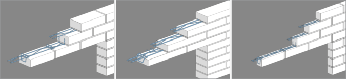Brick Facaders solution - Horizontal