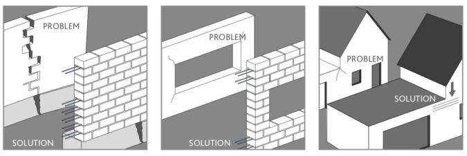 Brick Facades reinforcement solutions