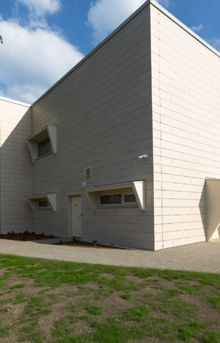 Picture of a house, built with ventilated facade.