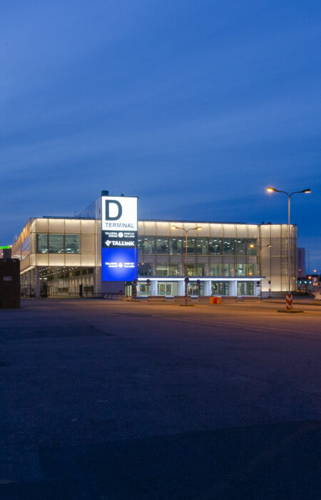 Port of Tallinn - Facade is made with GKD metal fabric